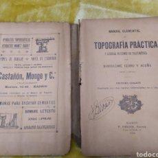 Libros antiguos: MANUAL ELEMENTAL DE TOPOGRAFIA PRACTICA DE 1914. Lote 168261177