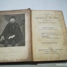 Libros antiguos: PRESCOTT´S CONQUEST OF PERU, EN INGLÉS, POR WILLIAM PRESCOTT, 1847. Lote 168264756