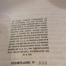 Libros antiguos: RENE GRETEL DALI OU L'ANTI_OBSCURANTISME. Lote 168308280