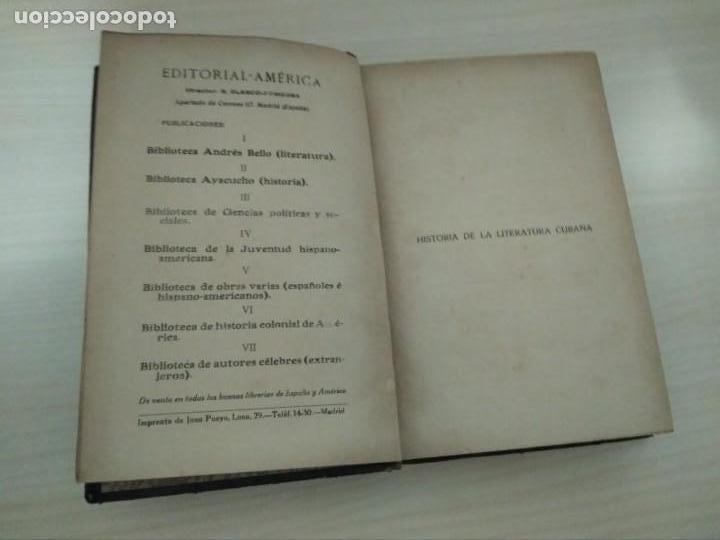 Libros antiguos: Historia de la Literatura Cubana. Aurelio Mitjans. 1918 - Foto 3 - 168315560