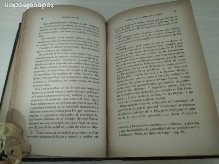 Libros antiguos: Historia de la Literatura Cubana. Aurelio Mitjans. 1918 - Foto 4 - 168315560