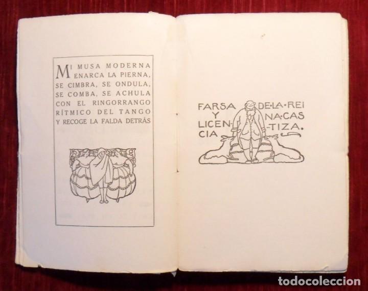 Libros antiguos: Farsa Y Licencia De La Reina Castiza. Don Ramón Del Valle Inclán. 1ª Edición. Barcelona 1922. - Foto 3 - 168377068
