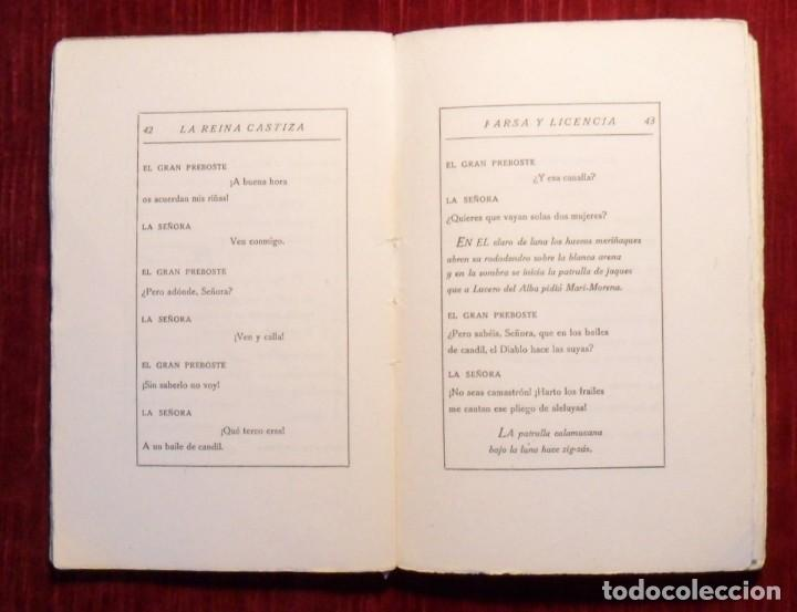 Libros antiguos: Farsa Y Licencia De La Reina Castiza. Don Ramón Del Valle Inclán. 1ª Edición. Barcelona 1922. - Foto 4 - 168377068
