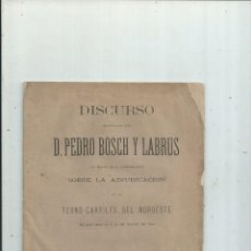 Livres anciens: GALICIA ASTURIAS - FERROCARRILES DEL NOROESTE. PEDRO BOSCH Y LABRUS. 1880. Lote 168393132