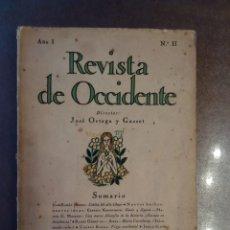 Libros antiguos: REVISTA DE OCCIDENTE. PRIMERA ÉPOCA. AÑO I. Nº II. AGOSTO, 1923. Lote 167940972