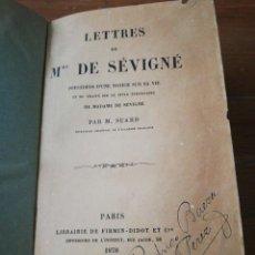 Libros antiguos: LETTRES DE MME. DE SEVIGNE. PARÍS. 1878.. Lote 168434012