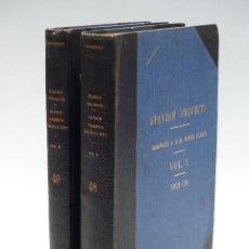 Libros antiguos: 2 LIBROS CONFIDENCIALES SOBRE EL FERROCARRIL DIRECTO MADRID-VALENCIA, ALPUJARRAS TREN AÑOS 20. Lote 168440108