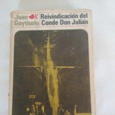 Libros antiguos: REIVINDICACIÓN DEL CONDE DON JULIÁN, JOAQUÍN MORTIZ, PRIMERA EDICIÓN 1970, LIBRO. Lote 168446848