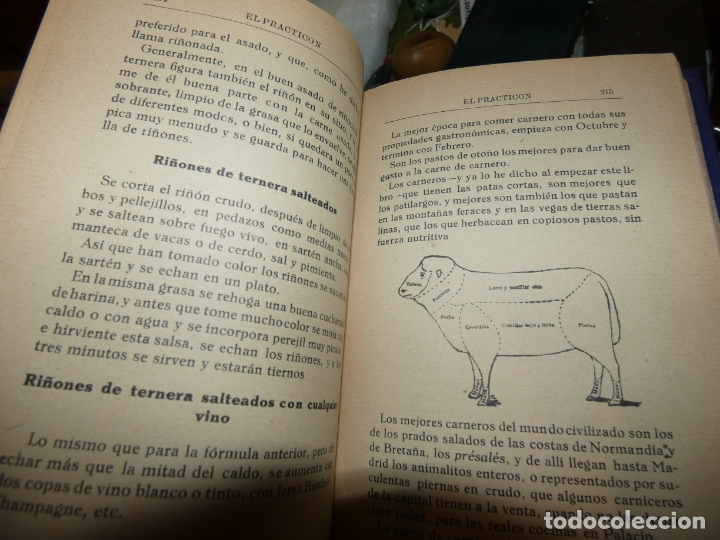 Libros antiguos: El Practicón, tratado completo de cocina, Angel Muro año 1928. 581 págs. bien conservado - Foto 2 - 168497736