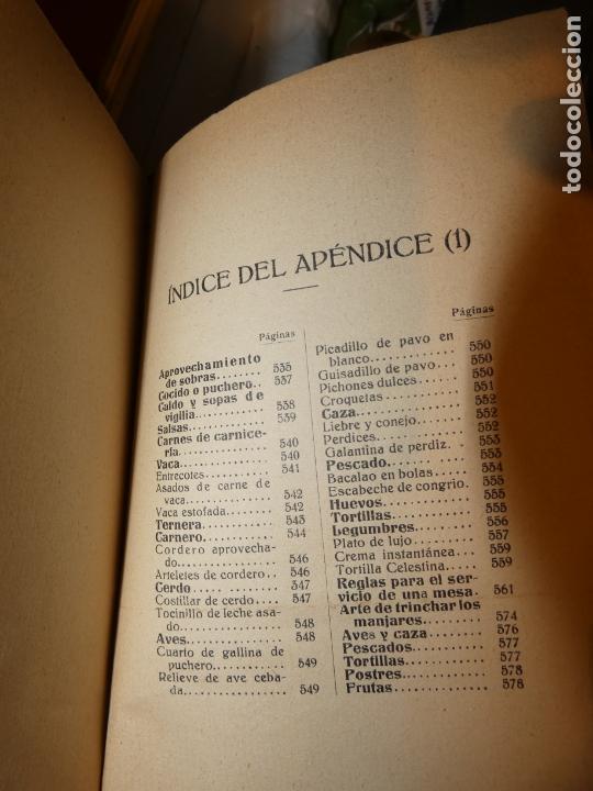 Libros antiguos: El Practicón, tratado completo de cocina, Angel Muro año 1928. 581 págs. bien conservado - Foto 4 - 168497736