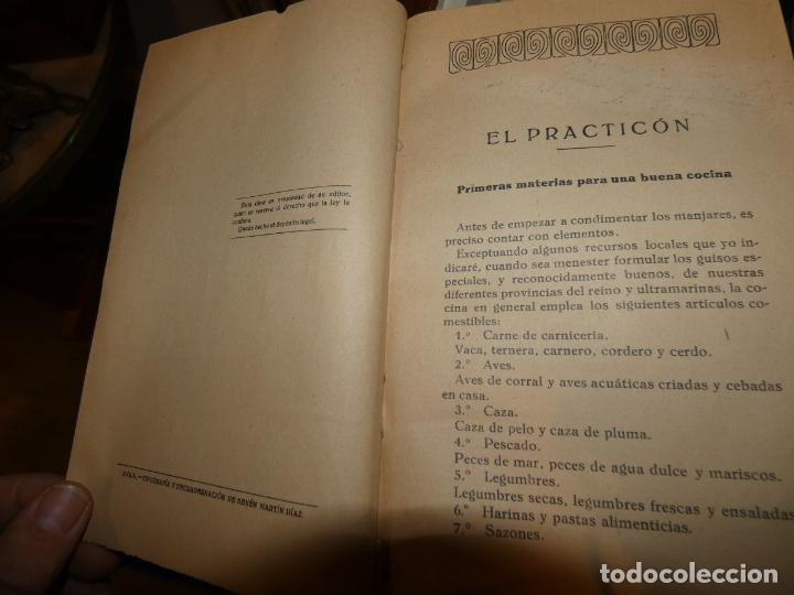 Libros antiguos: El Practicón, tratado completo de cocina, Angel Muro año 1928. 581 págs. bien conservado - Foto 5 - 168497736