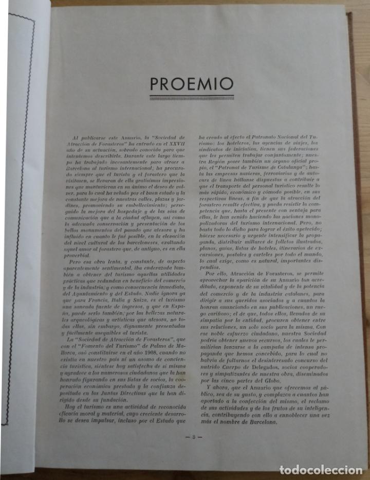 Libros antiguos: BARCELONA 1934 - 1935 - ANUARIO DE LA CIUDAD - SOCIEDAD DE ATRACCION DE FORASTEROS - Foto 3 - 168540236