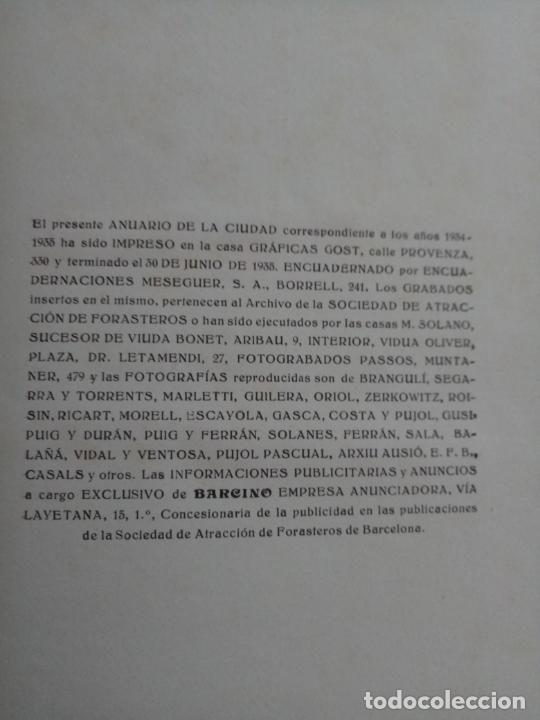 Libros antiguos: BARCELONA 1934 - 1935 - ANUARIO DE LA CIUDAD - SOCIEDAD DE ATRACCION DE FORASTEROS - Foto 12 - 168540236