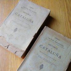 Libros antiguos: OBRAS DE VÍCTOR BALAGUER- HISTORIA DE CATALUÑA, TOMOS VI- VII (BIBLIOTECA VILLANUEVA Y GELTRÚ), 1886. Lote 168561308