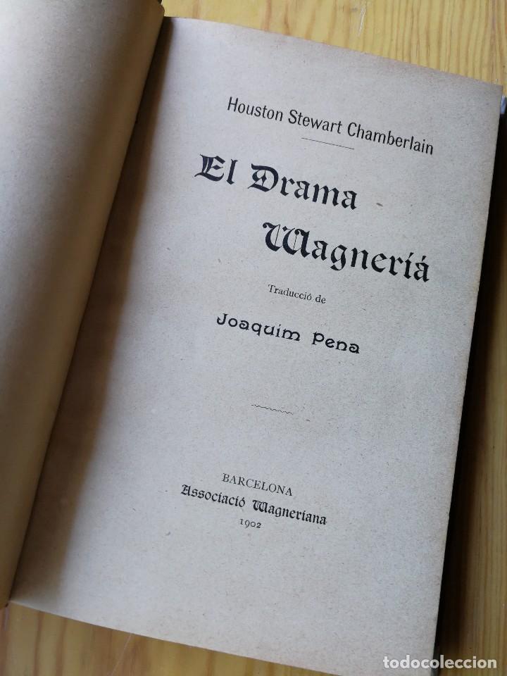 EL DRAMA WAGNERIÀ- HOUSTON STEWARD CHAMBERLAIN (JOAQUIM PERA),ASSOCIACIÓ WAGNERIANA (BARCELONA),1902 (Libros Antiguos, Raros y Curiosos - Bellas artes, ocio y coleccionismo - Otros)