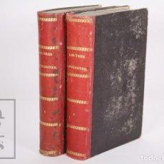 Libros antiguos: PAREJA DE LIBROS ILUSTRADOS - LOS TRES NAPOLEONES Y LA GUERRA DE ITALIA - ED. JUAN OLIVERES, 1859. Lote 168577400