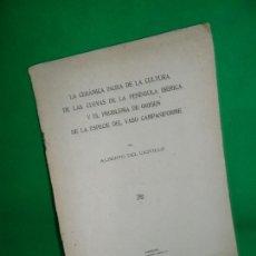 Libros antiguos: LA CERÁMICA INCISA DE LA CULTURA DE LAS CUEVAS DE LA PENÍNSULA IBÉRICA Y EL PROBLEMA..., 1922. Lote 168601856