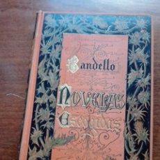Libros antiguos: BANDELLO. NOVELAS ESCOGIDAS. 1884. BIBLIOTECA ARTE Y LETRAS.. Lote 168617738