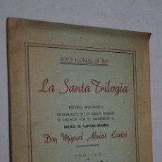 Libros antiguos: LA SANTA TRILOGÍA. JOCS FLORALS DE 1945. . Lote 168625372
