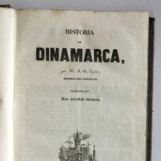 Libros antiguos: HISTORIA DE DINAMARCA. - EYRIES, JEAN-BAPTISTE BENOÎT. PANORAMA UNIVERSAL. EUROPA. 1845. Lote 168682540
