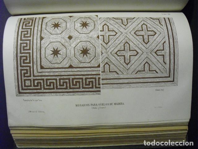 Libros antiguos: SIGLO XIX EL CARPINTERO MODERNO J. JUSTO UGUET TOMO DE TEXTO Y ATLAS CON 225 LÁMINAS EN UN VOLUMEN - Foto 7 - 168735892