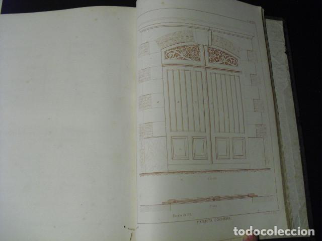 Libros antiguos: SIGLO XIX EL CARPINTERO MODERNO J. JUSTO UGUET TOMO DE TEXTO Y ATLAS CON 225 LÁMINAS EN UN VOLUMEN - Foto 8 - 168735892