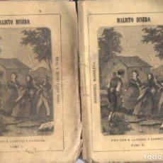 Libros antiguos: E. LLOFRIU Y SAGRERA . MALDITO DINERO -2 TOMOS (BIBL MADRILEÑA 1874). Lote 168743732