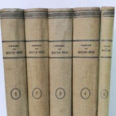 Libros antiguos: OBRAS COMPLETAS DE MAYNE-REID (5 TOMOS), FRANCISCO SEIX EDITOR. Lote 168817436