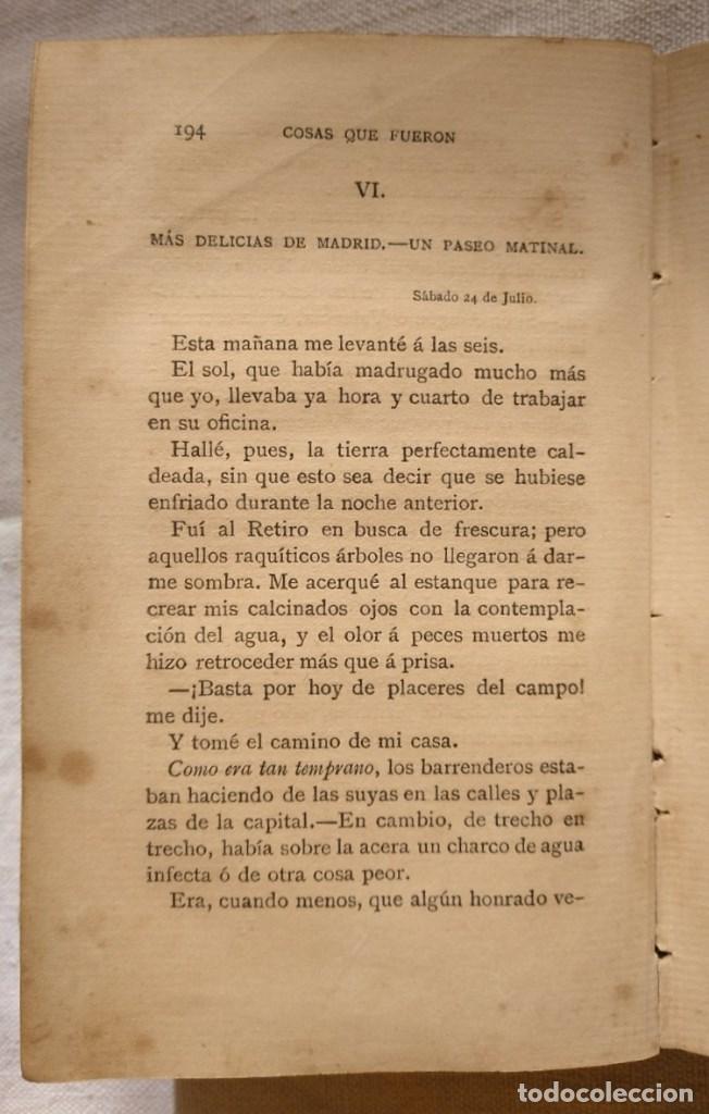 Libros antiguos: PEDRO ANTONIO DE ALARCÓN. COSAS QUE FUERON. AÑO 1882 - Foto 3 - 168839036