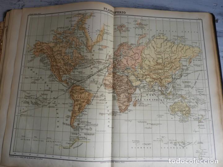 Libros antiguos: ATLAS GEOGRAFICO UNIVERSAL DE GARNIER HERMANOS 1888 - Foto 8 - 168859072