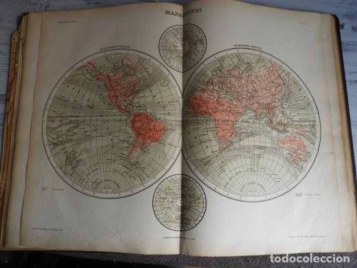 Libros antiguos: ATLAS GEOGRAFICO UNIVERSAL DE GARNIER HERMANOS 1888 - Foto 9 - 168859072