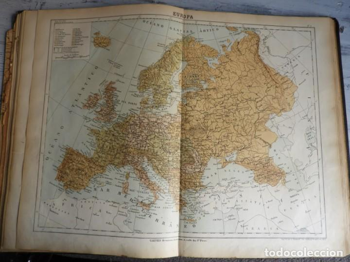 Libros antiguos: ATLAS GEOGRAFICO UNIVERSAL DE GARNIER HERMANOS 1888 - Foto 10 - 168859072