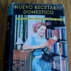 Libros antiguos: NUEVO RECETARIO DOMÉSTICO - ENCICLOPEDIA MODERNA PARA EL HOGAR ING. I. GHERSI – DR. A. CATOLDI 1959. Lote 168903650