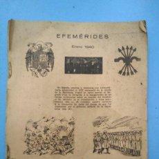 Libros antiguos: ALMANAQUE FLECHAS Y PELAYOS SEMANARIO INFANTIL 1940. 1º PUBLICACIÓN PARANOCAIDAS DE GLORIA FUERTES. Lote 168918344