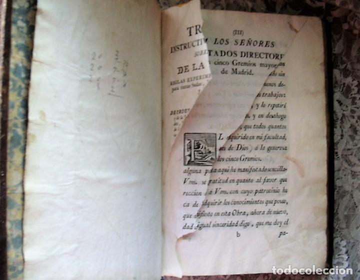 Libros antiguos: TRATADO INSTRUCTIVO Y PRÁCTICO DEL ARTE DE LA TINTURA - 1778 - LUIS FERNÁNDEZ - Foto 5 - 168991052