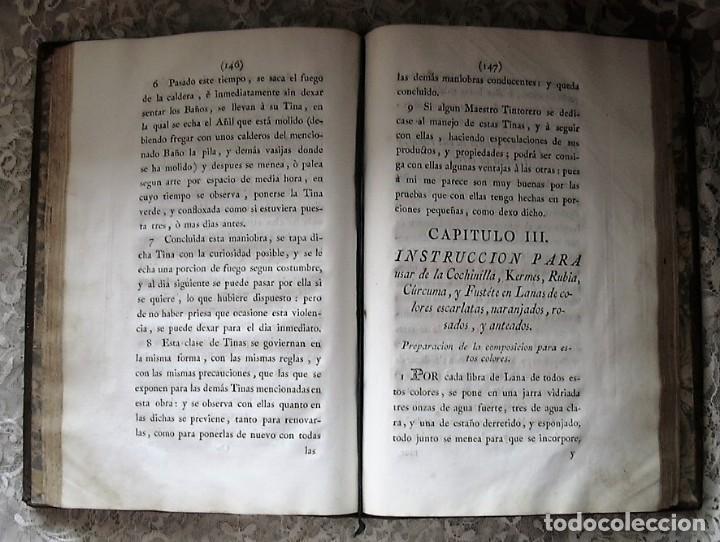 Libros antiguos: TRATADO INSTRUCTIVO Y PRÁCTICO DEL ARTE DE LA TINTURA - 1778 - LUIS FERNÁNDEZ - Foto 15 - 168991052