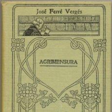 Libros antiguos: AGRIMENSURA - MANUALES GALLACH Nº 103 . Lote 169030948