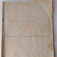 Libros antiguos: LIBRO DE COCINA DE MARIA SANCHO BASTERRICA. Lote 169157484