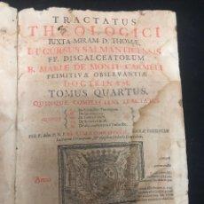 Libros antiguos: TRACTATUS THEOLOGICI IUXTA MIRAM D. THOMAE - 2A EDICIÓN. Lote 169237318