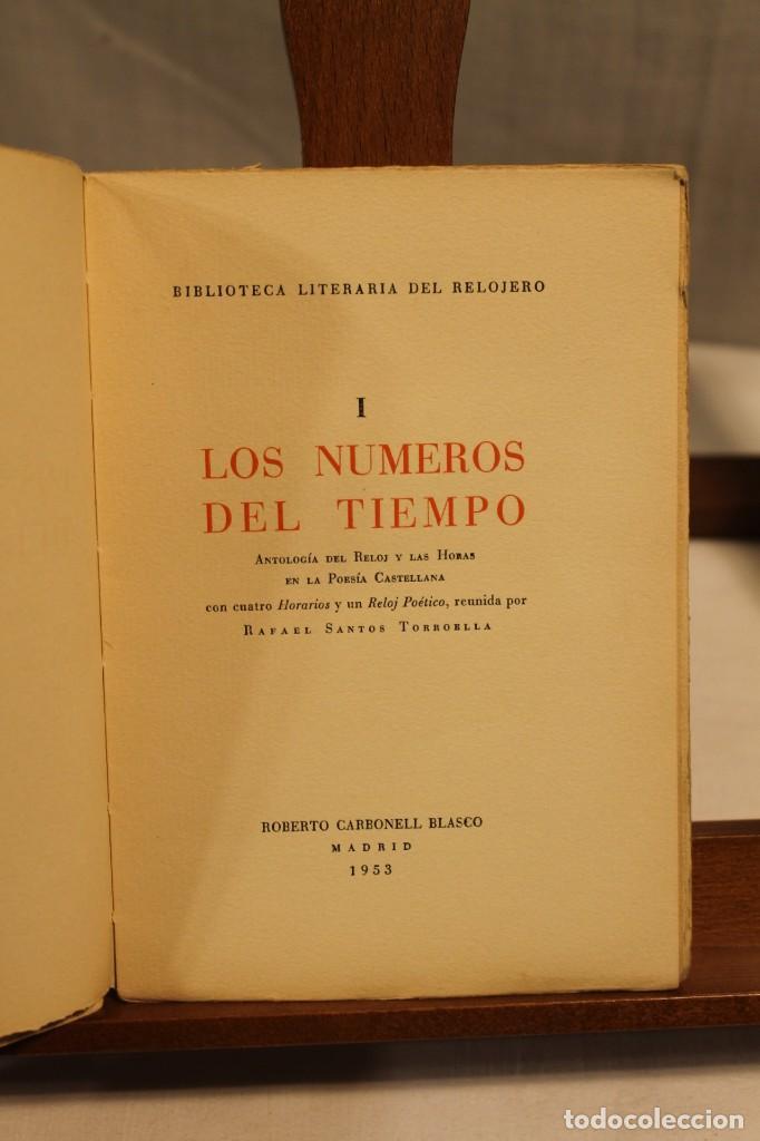 Libros antiguos: BIBILOTECA LITERARIA DEL RELOJERO, CINCO VOLÚMENES - Foto 2 - 169238268