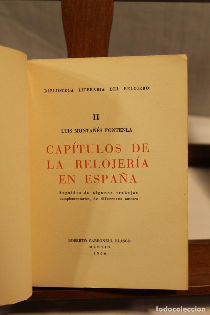 Libros antiguos: BIBILOTECA LITERARIA DEL RELOJERO, CINCO VOLÚMENES - Foto 4 - 169238268
