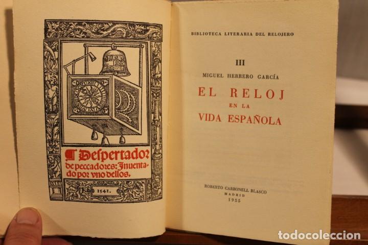 Libros antiguos: BIBILOTECA LITERARIA DEL RELOJERO, CINCO VOLÚMENES - Foto 6 - 169238268