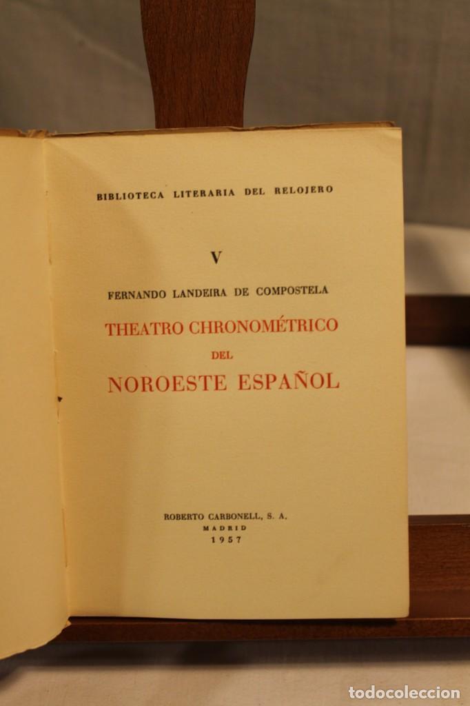 Libros antiguos: BIBILOTECA LITERARIA DEL RELOJERO, CINCO VOLÚMENES - Foto 8 - 169238268