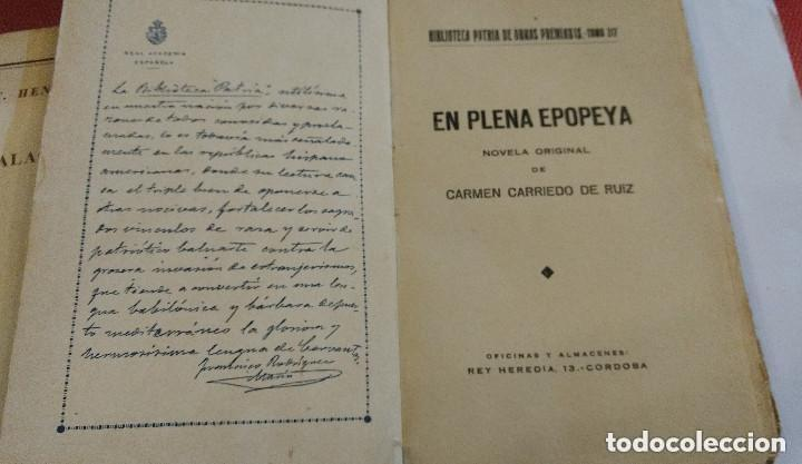 Libros antiguos: EN PLENA EPOPEYA. CARRIEDO DE CRUZ, CARMEN. BIBLIOTECA DE CULTURA - Foto 2 - 169238972