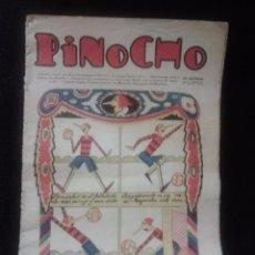 Libros antiguos: PINOCHO SEMANARIO INFANTIL AÑO I NÚMERO 18 AÑO 1925. DIBUJOS DE BARTOLOZZI FUTBOL. Lote 169239968