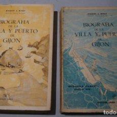 Livros antigos: BIOGRAFÍA DE LA VILLA Y PUERTO DE GIJÓN. JOAQUÍN A. BONET. Lote 169247212
