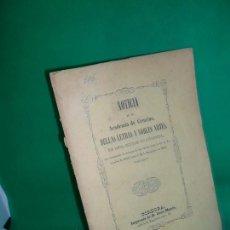 Libros antiguos: NOTICIA DE LA ACADEMIA DE CÓRDOBA DE ESTA CIUDAD DE CÓRDOBA DESDE 1813 A 1846. Lote 169418756