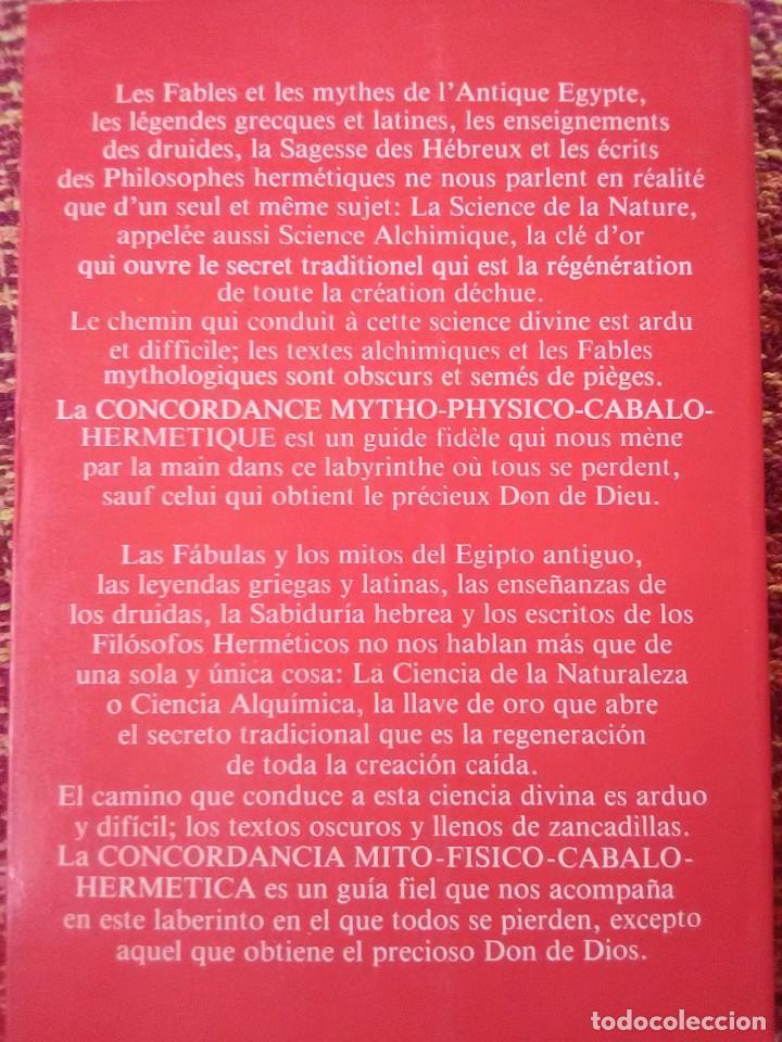 Libros antiguos: Concordancia Mito Físico Cabalo Hermética - Foto 2 - 169427788