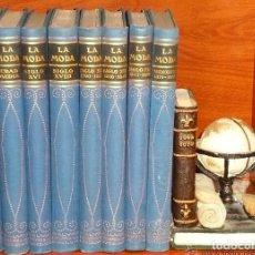 Libros antiguos: LA MODA.HISTORIA DEL TRAJE EN EUROPA DESDE LOS ORÍGENES DEL CRISTIANISMO HASTA NUESTROS DÍAS.8 TOMOS. Lote 168762964