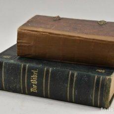 Libros antiguos: MUY ANTIGUA BIBLIA EN ALEMAN Y DEVOCIONARIO SIGLO XVIII 233,00 €. Lote 169662628